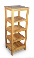 Teak Square Shelf 5 Tier
