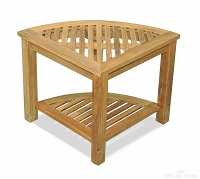 Teak Triangular End Table 20in X20in X18in H