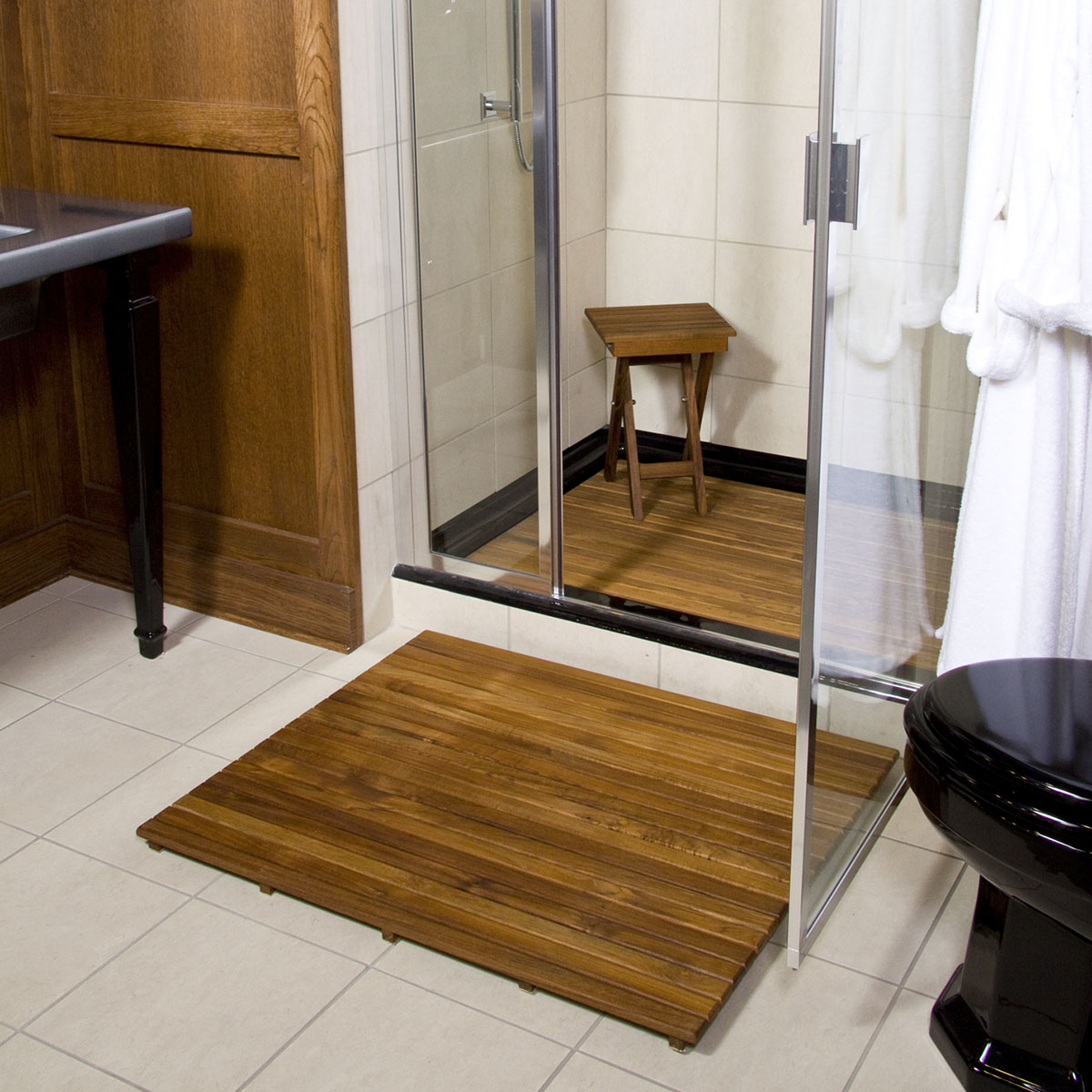 Design Teak Bath Mat on sale 36 l x 30 w shower teak mat unfinished unfinished