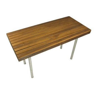 "30"" L x 18"" W x 18"" H Commercial Legged Teak Bench"