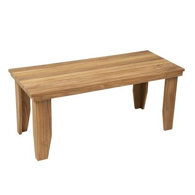 "25"" L x 18"" W x 18"" H Backless Teak Bench"