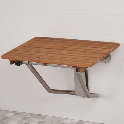 "22"" L x 16"" D ADA Compliant Shower Teak Bench"