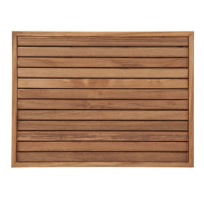 "26 1/2"" L x 19-1/2"" W x 1-1/4"" H Teak Mat With a Narrow Frame"