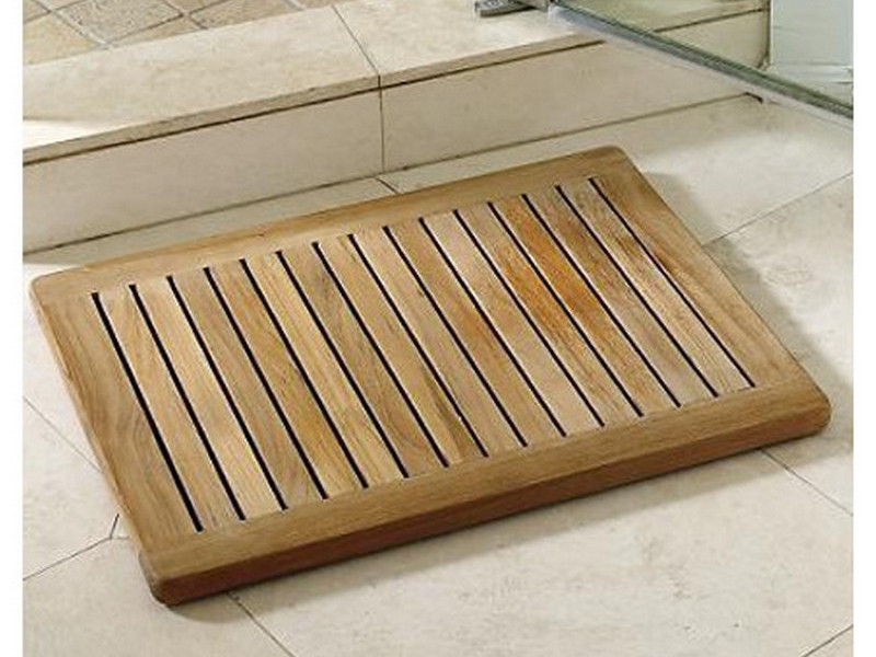 36 W X 24 D 1 25 H Extra Large Teak Shower Mat With Rounded Corners